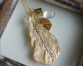 Pendant Necklace-Long Gold Necklace-Fall Fashion