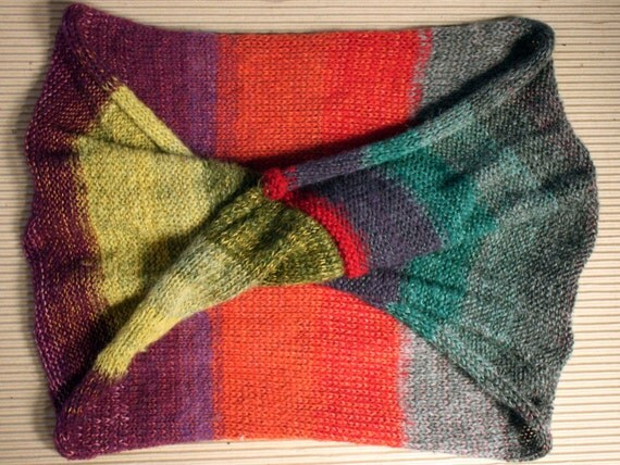 Georgetown Wrap Shawl Cowl- brightly painted doors and shutters