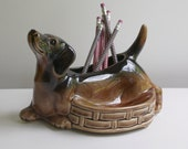 Vintage Dachshund Ceramic Desk Accessory