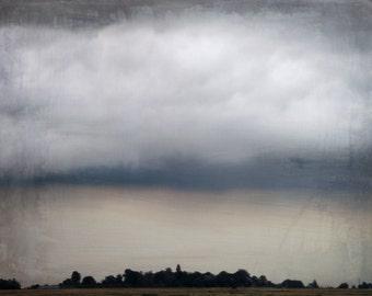 Stormy Sky Photography Deep Grey Blue Dark Home Decor 10x8 Print Stormy...