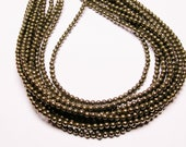 Pyrite - 4mm round beads -1 full strand - 100 beads - A quality