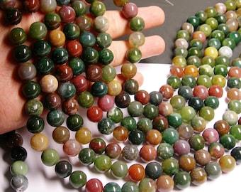 Indian agate 12mm- full strand - 33 beads per strand