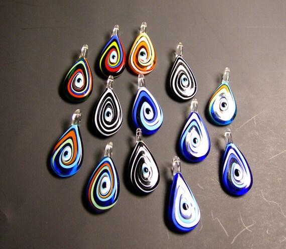 13 pcs Murano lampwork glass mix set  -  focal pendant - set of 13 pcs wholesale