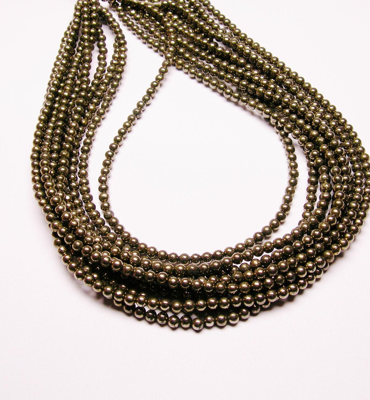 pyrite 4mm 1 strand 100 a