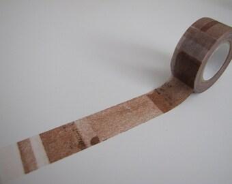 Washi Tape-Masking Tape-Single Roll-Brown Collage