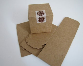 Kraft Gift Boxes-Favor Boxes-Set of 10 2 x 2 x 2  inches-Gift Box