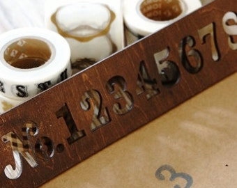 Number Stencils-Wooden-Antique Style -Make your own Numbers-Label Maker-Template