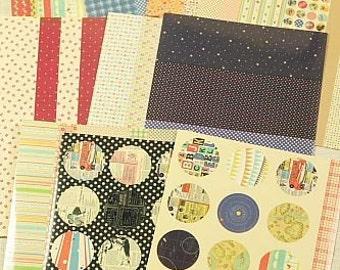 Washi Tape-Sticker Set- Masking Tape Stickers- 10 sheets-Many Designs