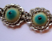 Vintage God's Eye Teal Green Bracelet