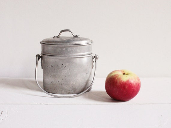 Vintage miners lunch box, Aluminum lunch box