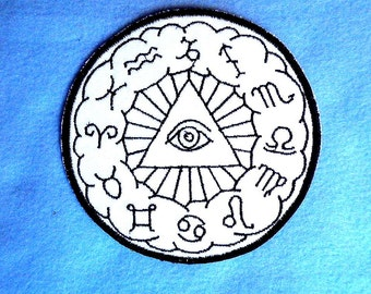 Eye of the Zodiac Iron on Patch 4.7 inch