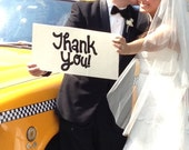 Large Thank You Wedding Sign for Whimsical Rustic or Shabby Chic Wedding Hand painted Wedding Sign Handmade