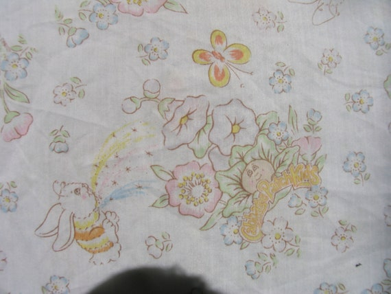 Sheet  Twin or Single Bed Twin Fitted or Bottom Sheet 1983 Cabbage Patch Kids Sheet