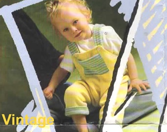 Knitting Pattern - Vintage Baby Dungarees PDF Pattern - BP06152013-01 -  Instant Download