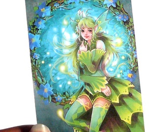 Forest Fea ACEO print