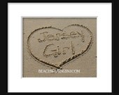 Jersey Girl on the Jersey Shore 5x7 8x10 Beach Writing printed fine art photo