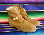 Reserved for Michelle-Vintage Unisa tan suede ankle boots size 8