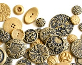 Candy Buttons -Chocolate Brass (Antique Inspired)- 100 Cake Decoration - Wedding Favor - Etsy Weddings