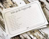 Wishes for the Happy Couple Cards - Unique Bridal Shower Activity Game or Wedding Guest Book Alternative - Black and White