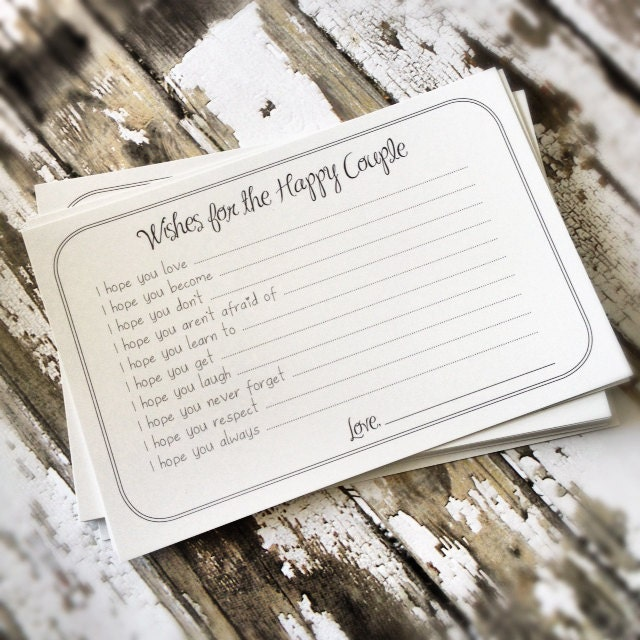 PRINTABLE Wishes For The Happy Couple Cards Unique Shower