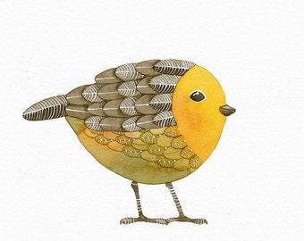 Bird No.15 - Bird Art Print, Limited Edition - Watercolor Painting by Lorisworld