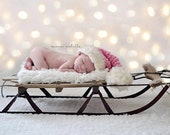 Santa Baby...Handspun Merino Pink Santa Hat - Organic Newborn Photo Prop