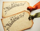Thanksgiving Place Cards Rustic Autumn Hostess Gift Tags - papergirlstudios