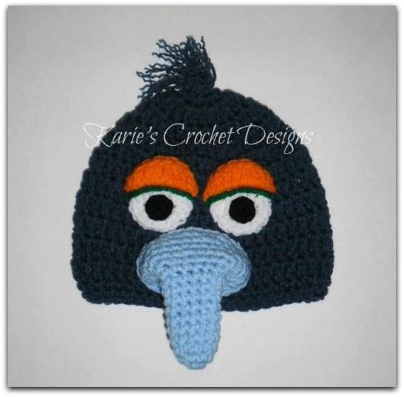 GONZO Muppet Handmade Crochet Hat Beanie