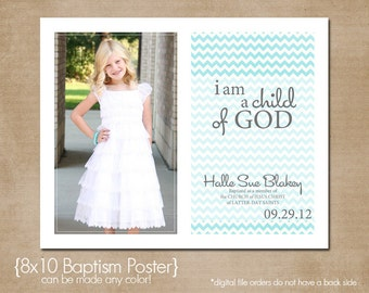Custom LDS Baptism Printable- 8x10
