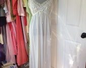 GORGEOUS vintage light blue nylon nightgown by MOJUD