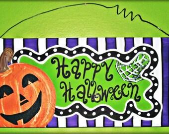 Happy Halloween Wooden sign 5.5x11
