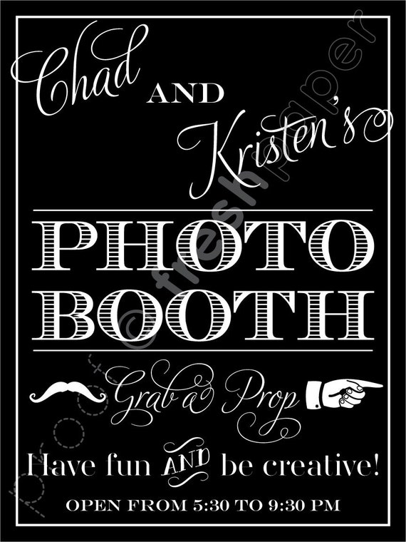 Reserved for Kristen - Photo Booth Sign