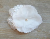 Bridal Fascinator - Venice Lace Bloom. The Renae - Made to Order.