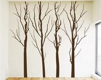 Wall decals FOREST TREES Modern surface graphics - Vinyl art decor by Decals Murals (9x9)