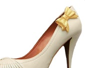 Shoe Clips Felicity Golden Bows for Wedding, Bridal Accessory
