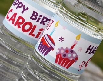 Cupcake Water Bottle Printable