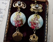 Victorian Assemblage Virgin Mary Earrings, Our Lady Sumptuous, by RusticGypsyCreations