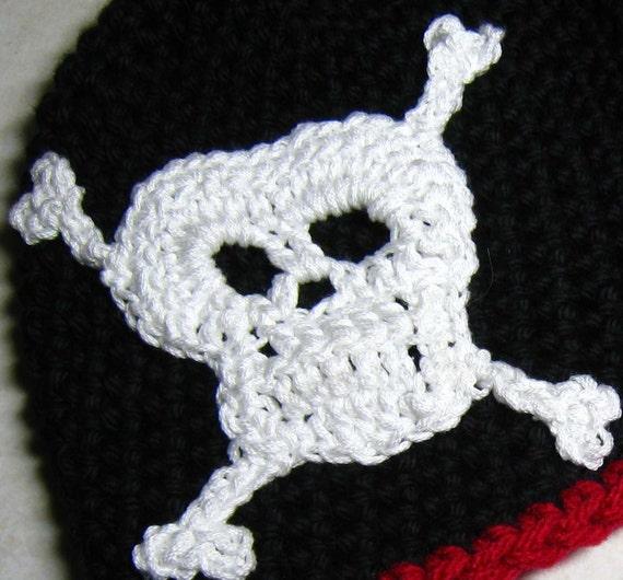CROCHET PATTERN - skull, crossbones, skull and crossbones, PDF crochet ...