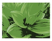 Graphically Interpreted: leaves photograph - 8 x 10 print