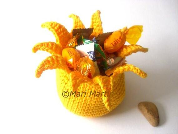 Crochet Basket Sun Yellow Beverage Drink Brightness Radiance Tan Sensational Sunlight Sunshine Sol Crochet Cute Collection