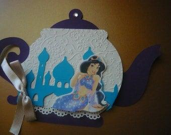 Princess Jasmine / Arabian Tea Party  Invitations Set of 12