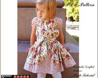 Alexandra PEASANT DRESS PATTERN + Free Mother-Daughter Apron Pattern, Children's Sewing Patterns, Girls Dress Patterns, Baby, Toddler