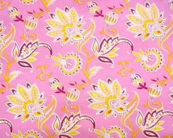 Super SALE : Mod Girls Nanny pink yellow Jennifer Paganelli Free Spirit fabric FQ or more