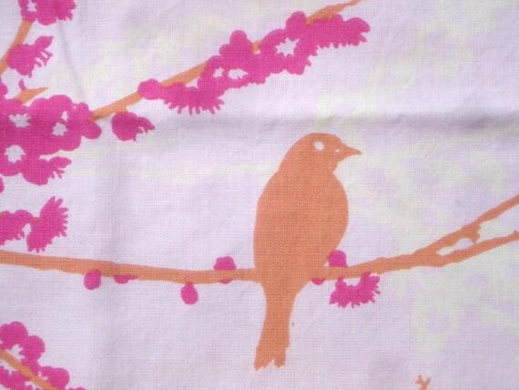 SALE  Aviary Joel Dewberry Sparrows in Pink first release Destash Please Read