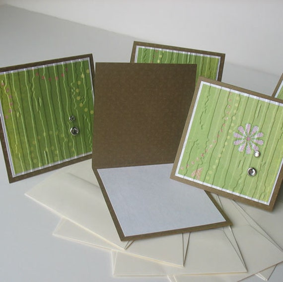 CLEARANCE Miniature Note Cards:  Handmade & Blank / 5 Pack Set - Fairytale
