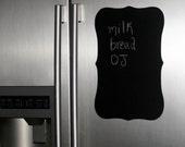 Chalkboard fancy plaque wall decal - XXL frame chalkboard refrigerator sticker - chalkboard wall sticker