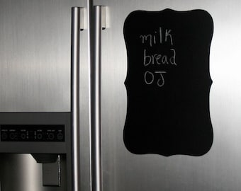 Chalkboard fancy plaque wall decal - XXL frame chalkboard refrigerator sticker - chalkboard wall sticker