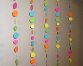 Neon Paper Circle Garland Backdrop - Choose your colors