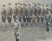 Framed WW1 Photo All Original Soldiers in Uniform 1918
