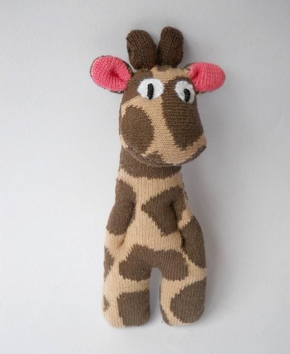 RESERVED LISTING for Vicci Nutter, stuffed animal doll giraffe miniature sock animal
